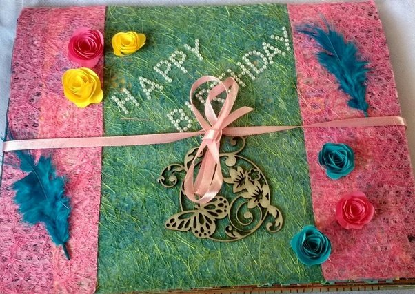 What is the best birthday gift you have ever received or given to birthday and i wanted to gift him a personalized gift so i came with the idea of preparing a birthday scrapbook and here below are the picture of it negle Choice Image