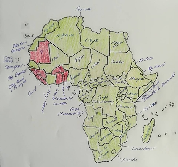 How many African countries can you identify on a map? - Quora