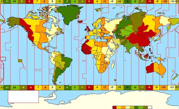 How come the usa has 4 time zones but china is as big as the usa and as you can see in this time zone map the vertical lines in asia are considerably bent to accomplish this gumiabroncs Choice Image