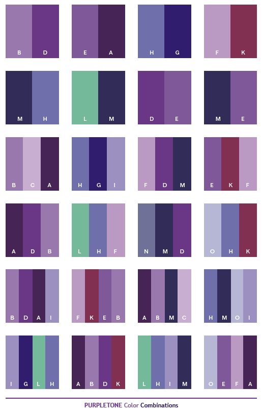 What Colors Go Well With Purple