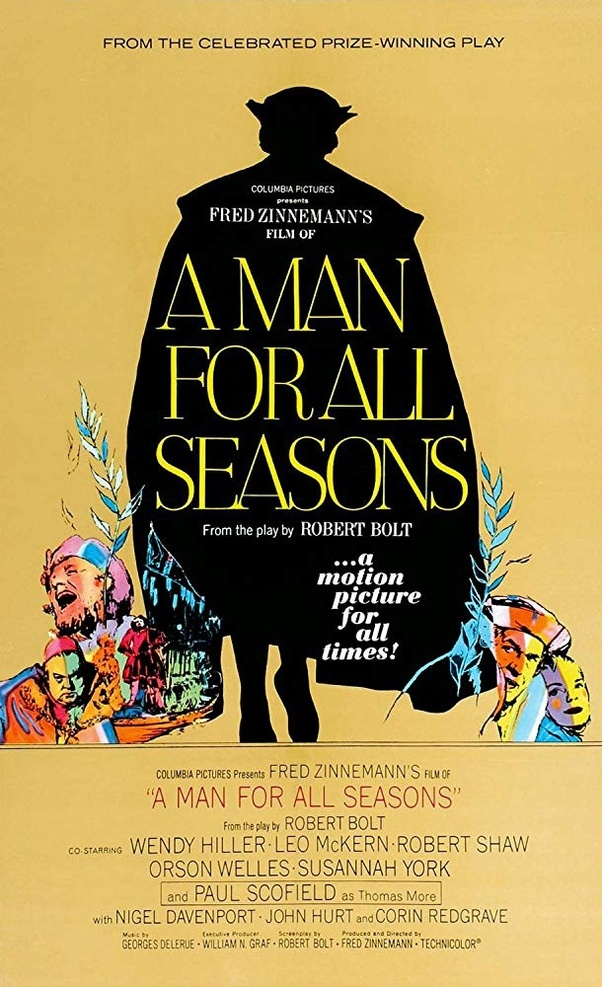 an analysis of a man for all seasons by bolt A man for all seasons is a play by robert bolt that was first performed in 1960 see a complete list of the characters in a man for all seasons and in-depth analyses of sir thomas more, the common man, and richard rich.
