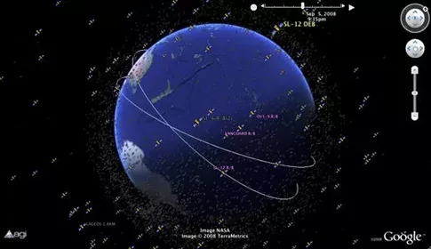 Where Can I Get A Map Of All Man Made Satellites Currently In - Map of satellites orbiting earth