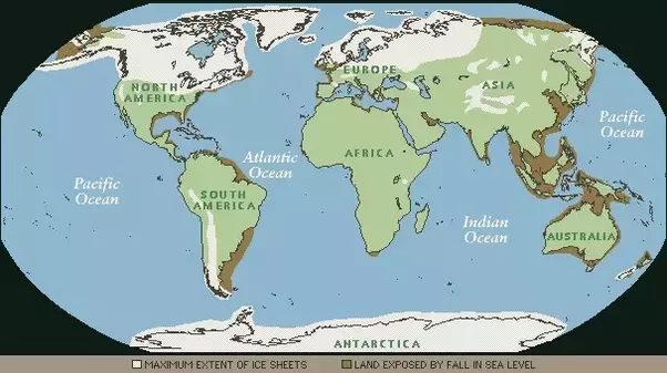If sea level dropped significantly 500feet how would new country during the last ice age sea levels were approximately 800 ft 244m below what they are today the map below gives a rough idea of where land was that is gumiabroncs Image collections
