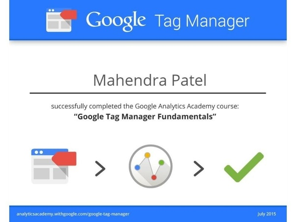 What is the process to get a certification in Google Tag Manager ...