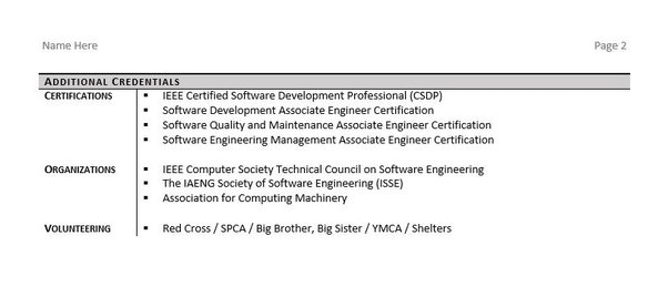 With That Said, Here Is A Good Example Of A Software Engineer Resume:  Resume Software Engineer
