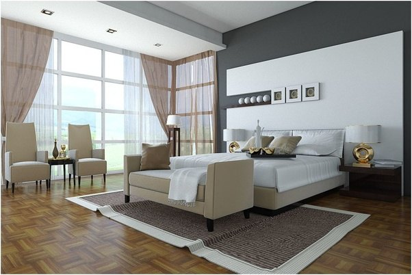 As Per My Opinion, You Should Go With All White And Make A Statement Wall  By Painting It Any Of Solid Color According To Your Choice, Like Below  Image.