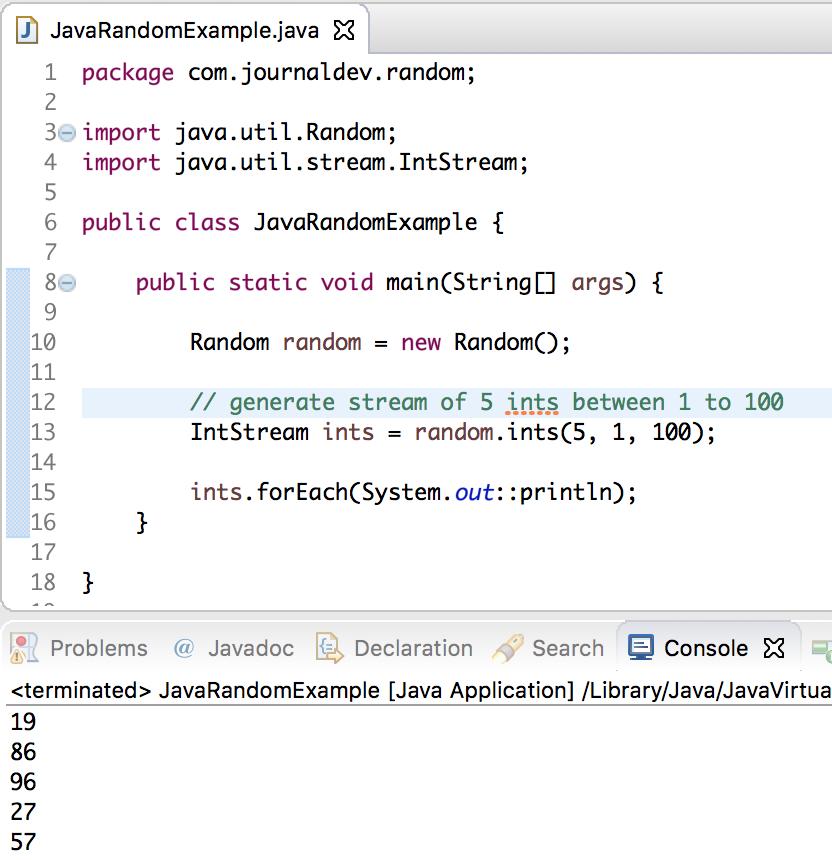 random generator in java for 10 digit number