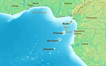 in the ocean gulf of guinea to be more precise