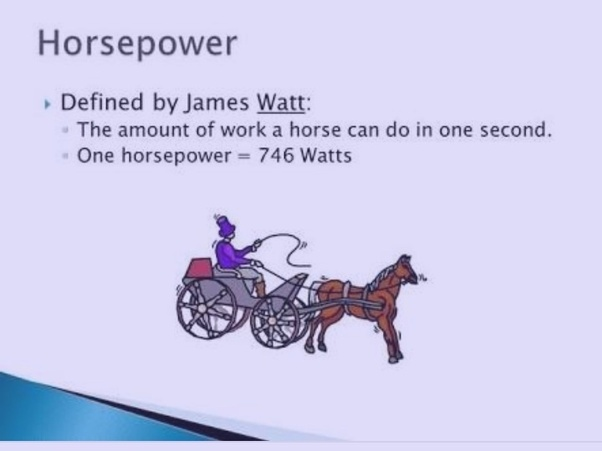 Horsepower (hp) is a unit of measurement of power (the rate at which work is done). There are many different standards and types of horsepower.