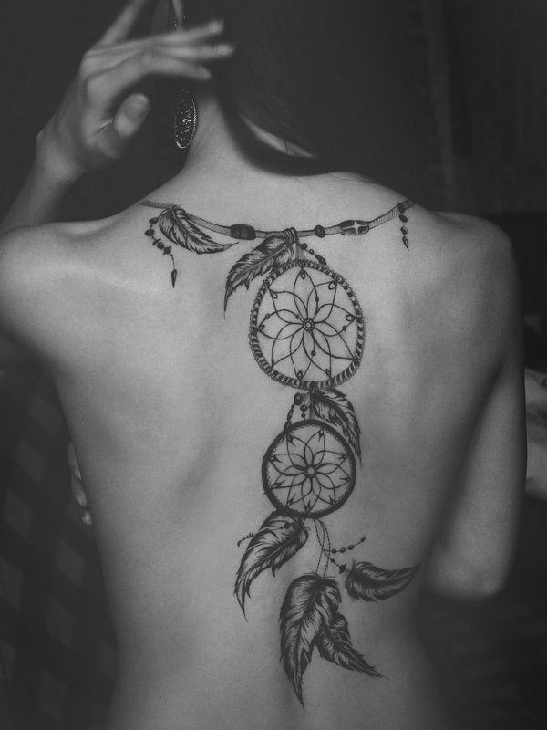 What are some cool tattoo designs that feature dreamcatchers? - Quora