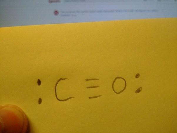 What Is The Lewis Dot Diagram For Carbon Monoxide Quora