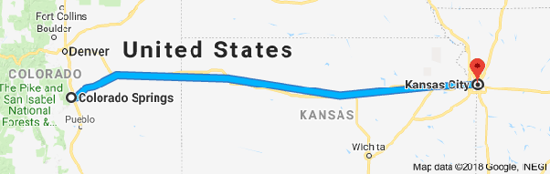 How Many Miles Are There Between Colorado Springs And Kansas City