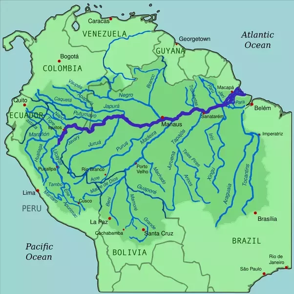 Where Is The Main Rivers In Brazil Located Quora - Parana river map