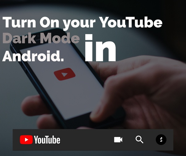 how to turn on night mode youtube