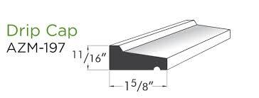 How should vinyl drip cap for siding be lapped when longer than 12