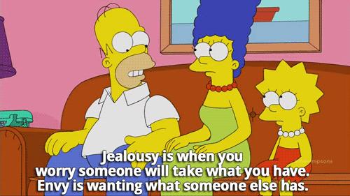 Difference envy jealousy