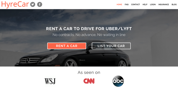 Rent Car Drive Lyft Or Uber Or Use Own Car