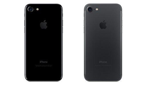 Iphone 7 black vs jet black side by side