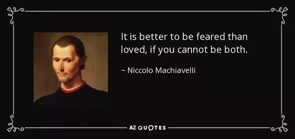 machiavelli the power of fear essay Machiavelli's basic philosophy was never that acquisition of power was the only aim of the humans, he talked about the ways in which the powerful attain power and retain it he believed that nothing should come in their and he talked very strongly on christian morality.