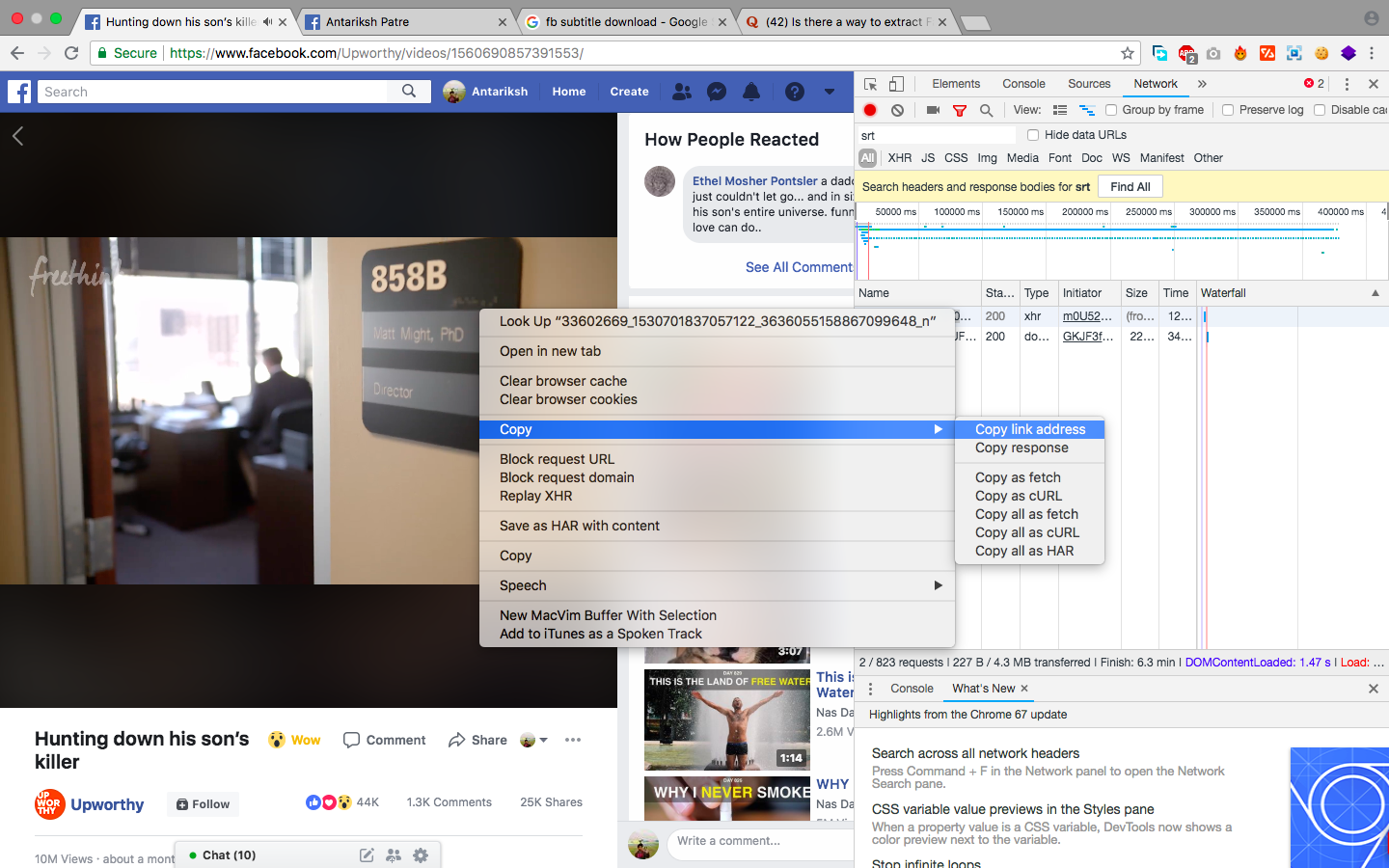 Is there a way to extract Facebook subtitles from a Video
