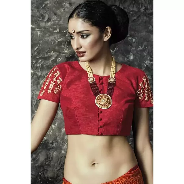Its Not Just About The Saree Fabric Color Pattern But The Related Blouse Designs Are Also An Added Attraction