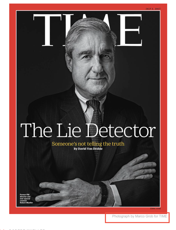 Did Bob Mueller pose for his TIME magazine cover photo? - Quora