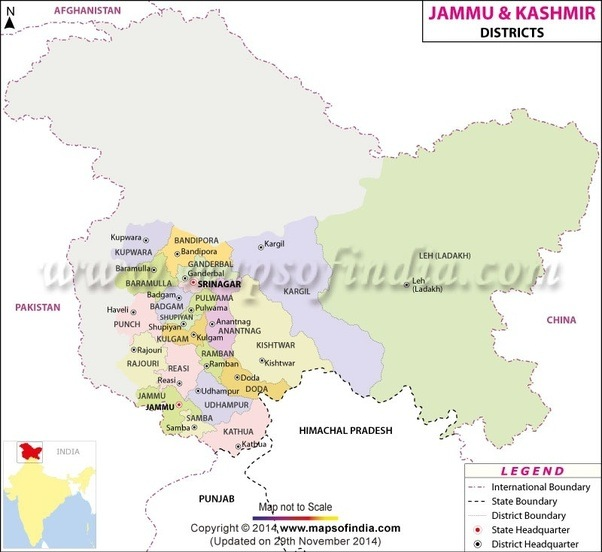 What Are The Different Regions Of Jammu Kashmir Quora