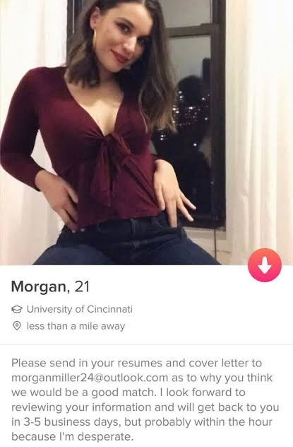 Which were some of the best bios you have read on Tinder