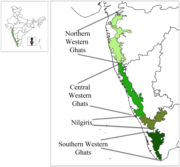 What is the highest mountain peak of Western Ghats of India ...