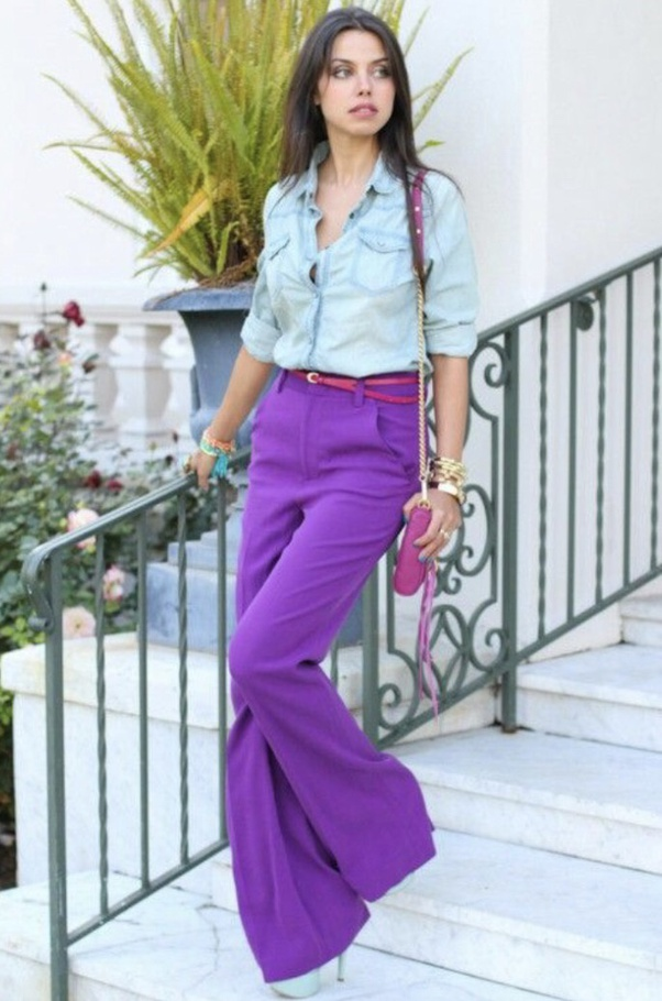 What color shirt goes with purple pants? - Quora