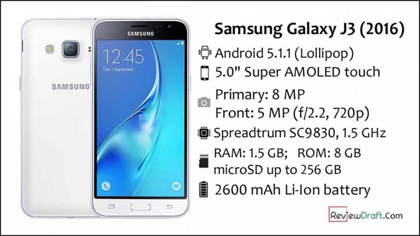 Does the Samsung J3 2016 support LTE/VoLTE? - Quora