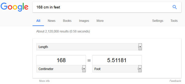 From The First Link Under The Google Search How Much Is 168 Cm In Feet And Inches Socratic