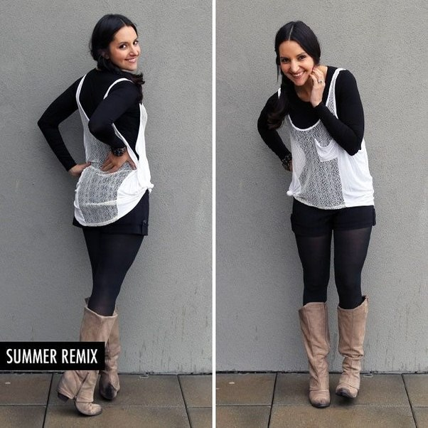 How to wear a tank top over a long sleeve shirt - Quora