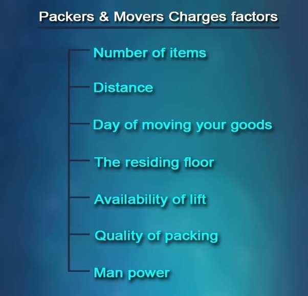 What is the price for packers and movers in Chennai? - Quora
