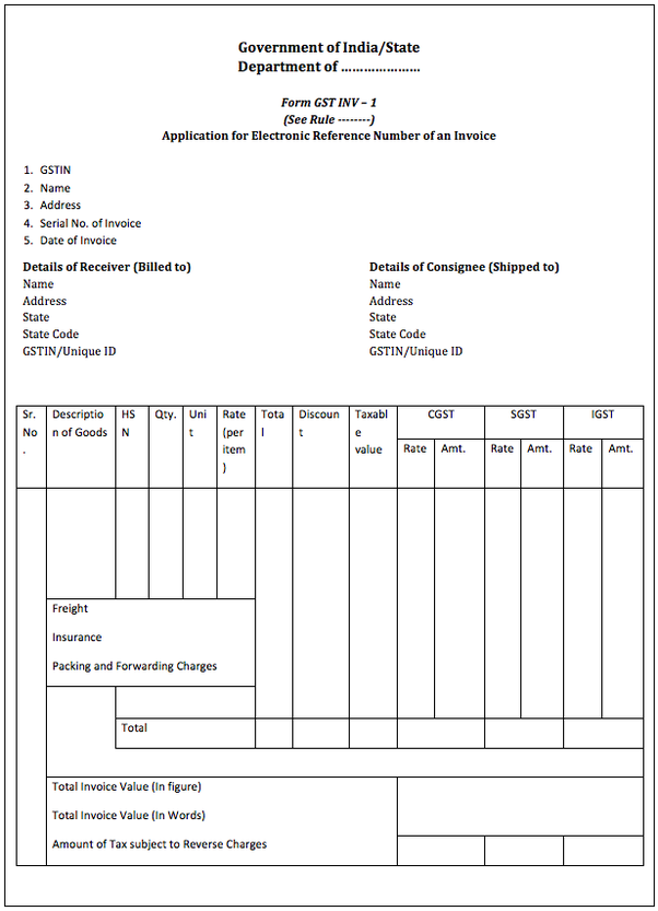 How Is GST Invoice Format Quora - Create your own invoice template online thrift store furniture