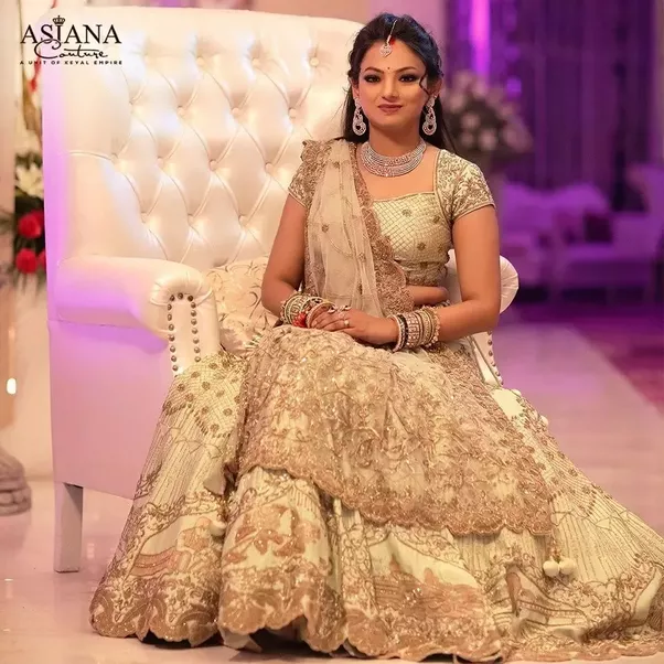 Indian Wedding Would A Gold Lehenga Be Appropriate For