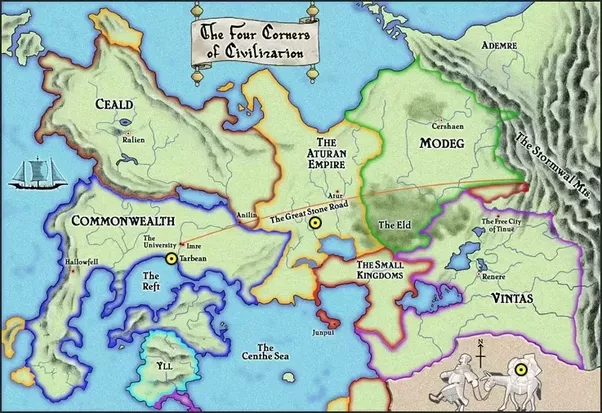 What are some good fantasy world maps that are not based on earths this one from the kingkiller chronicles is pretty good too gumiabroncs Choice Image