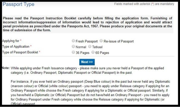 How to Apply for fresh Indian Passport Online. 10