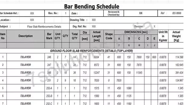 how to construct a bar bending schedule quora. Black Bedroom Furniture Sets. Home Design Ideas