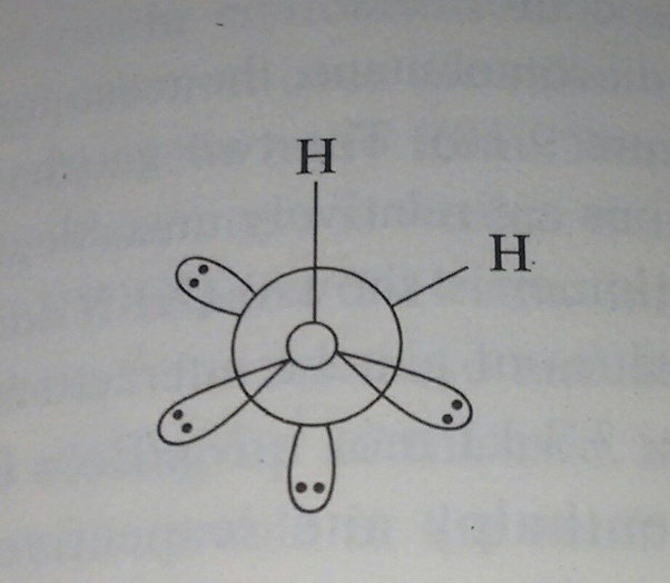 What is the chemistry behind the bond angles in hydrogen
