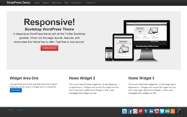 Top10 WordPress Premium Themes Made From Bootstrap - Popular ...