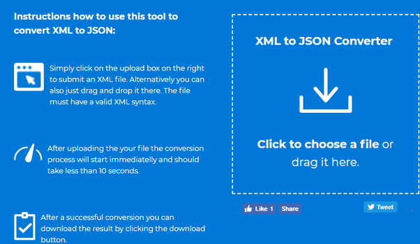 Is It Possible To Convert An Xml File Format To Json File