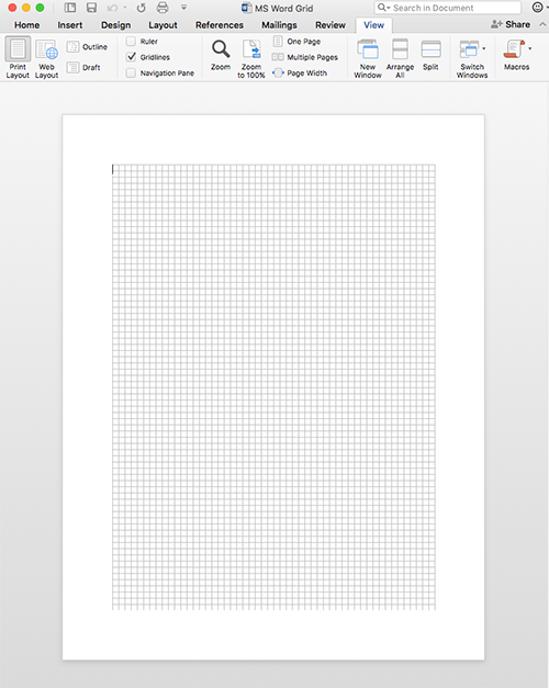 how to create grid paper in microsoft word