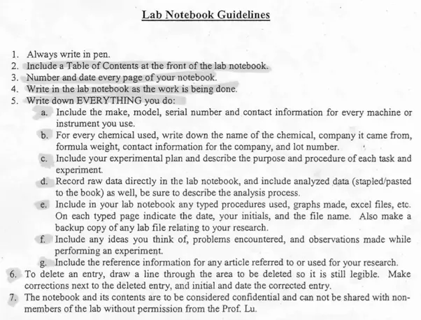 What\'s a good template for a lab notebook? - Quora