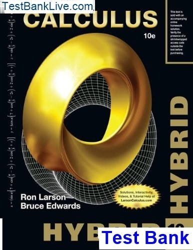 Where can I get Test Bank for Calculus Hybrid, 10th Edition