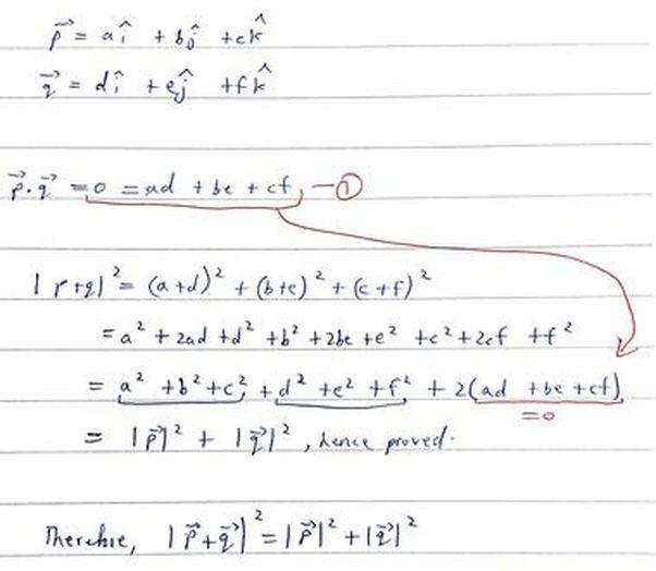 how to add perpendicular vectors