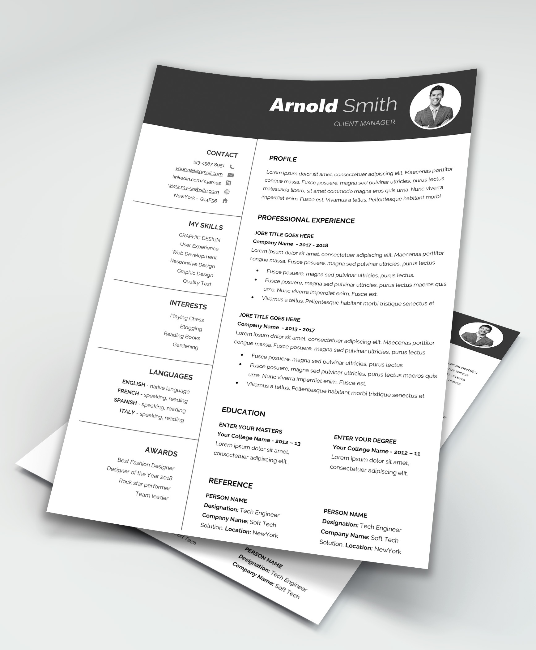 Classic Free Resume Template Download