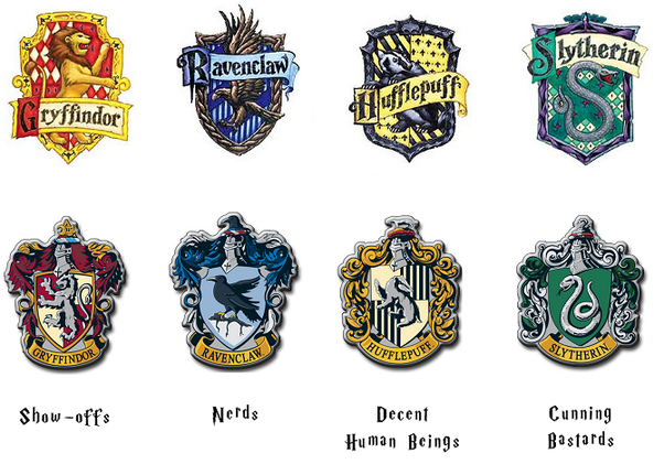 Let Us Begin By Listing All The Hogwarts Houses.