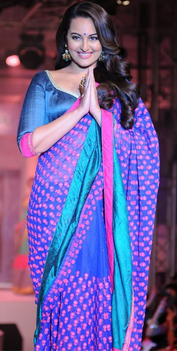 Which type of silk saree draping is best for fat girls ...