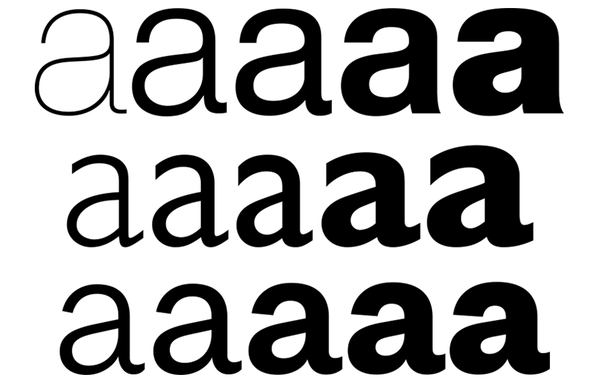 Why the 'a' in Helvetica has a spur in Regular but not in